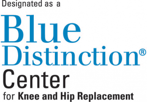 Blue Distinction Knee and Hip Replacement Badge
