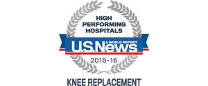 US News Knee Replacement Badge 2015-16