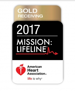 American Heart Association Mission Lifeline Gold Receiving 2017 Award