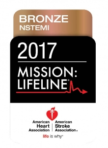 American Heart Association Mission Life NSTEMI Bronze 2017 Award